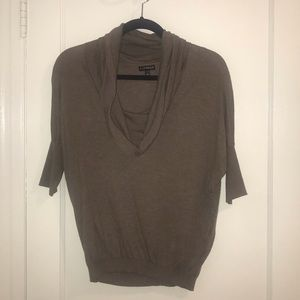 EXPRESS 1/2 sleeve cowl-neck sweater